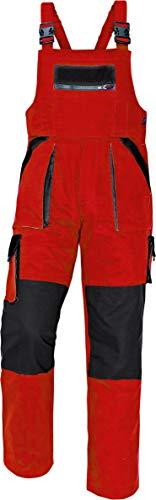 Stenso Max Salopette da Lavoro Extra Resistente Uomo Rosso/Nero 52