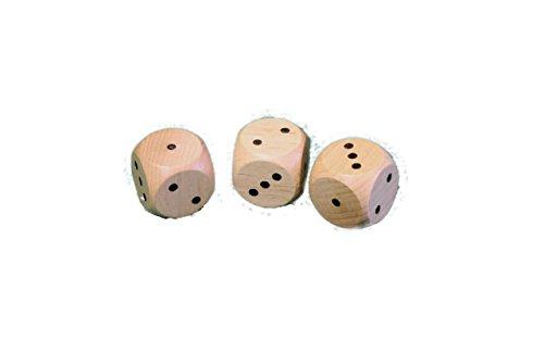 3er Spielewürfel 29mm, 10 Stück NEU Würfel Holzwürfel Knobelwürfel - Würfel 3
