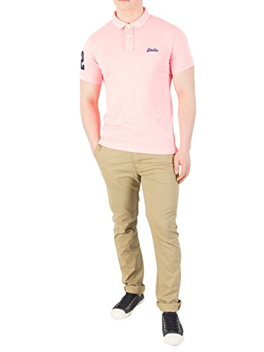 Superdry Herren Poloshirt Classic S/S Pique Polo Pink