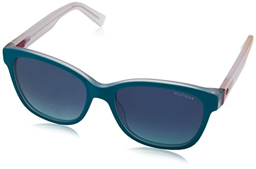 Tommy hilfiger th 1363/s x2 k34 54 occhiali da sole, rosso (teal crystal magen/blue turquoise shaded), donna