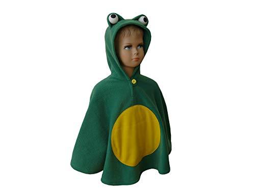 fasching karneval halloween kostüm cape für kleinkinder frosch