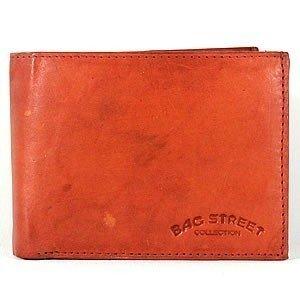 Herrengeldbörse Geldbörse Portemonnaie Leder *Rust* Querformat