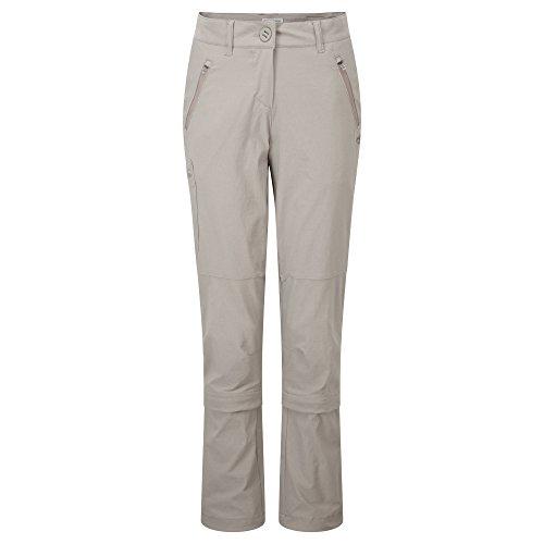 "Damen Wanderhose / Outdoor-Hose / Zipp-off-Hose mit Insektenschutz ""NosiLife Pro Capri Convertible"" hanf"