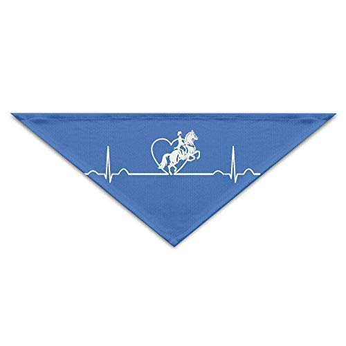 Gxdchfj Racing Horse Heartbeat Lifeline Baby Pet Dog Scarves Puppy Triangle Bandana Bibs Triangle Head Scarfs Accessories