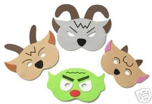 - 3 Gallee Ziegen Schroffe Maske Hat Gesetzt (Ziege Maske)