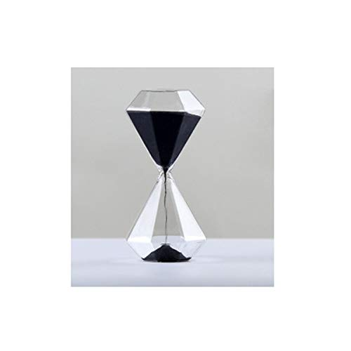 Aishanghuayi-ou clessidra, lo stile di design creativo in stile diamante, grande/medio/piccolo da scegliere, può essere utilizzato come decorazione per il desktop (nero, grigio, bianco) durevole