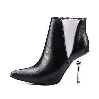 LFNLYX Da donna-Stivaletti-Formale-Stivali-A stiletto-Finta pelle-Nero / Bianco White