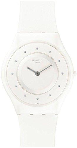Swatch Damen Digital Quarz Uhr mit Silikon Armband SFW110