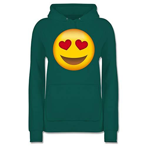 Comic Shirts - Verliebter Emoji - S - Türkis - JH001F - Damen ()