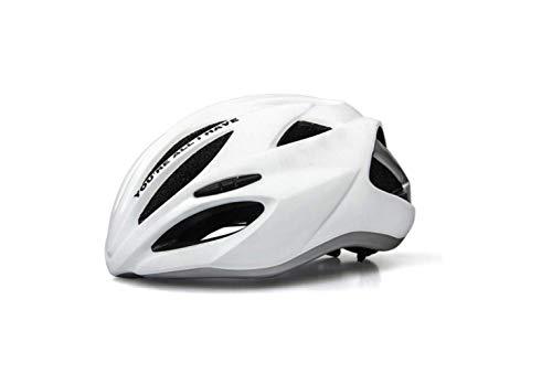 Casco da Mountain Bike Caschi Monopezzo Casco da Bici per Uomo e Donna Equipaggiamento per Mountain Bike Sicuro e Traspirante,bianca,L