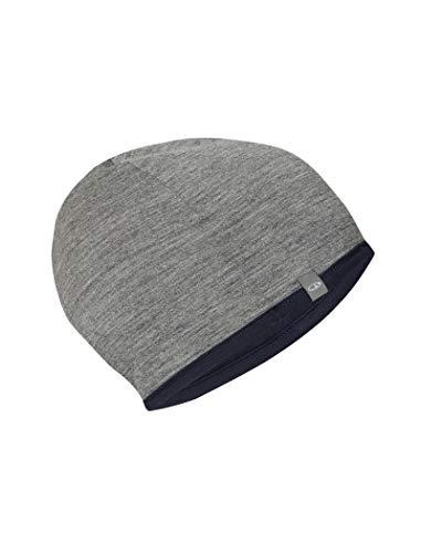 Icebreaker Erwachsene Adult Pocket Hat Mütze, Midnight Navy/Gritstone Hthr, OS