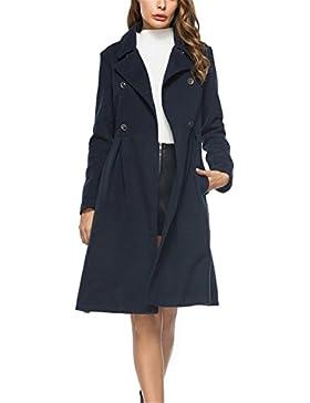 YGOLY Abrigo de Mujer Chaqueta Larga Invierno Elegante Doble Botonadura Outerwear