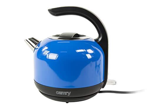 Camry CR-1253 Hervidor de Agua Eléctrico, Acero Inoxidable, 1,7 Litros, 2000W, Libre de BPA, 2000 W, 1.7 Liters, 0 Decibelios, Azul