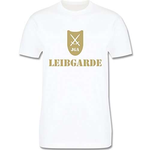 JGA Junggesellenabschied - Leibgarde - Herren Premium T-Shirt Weiß