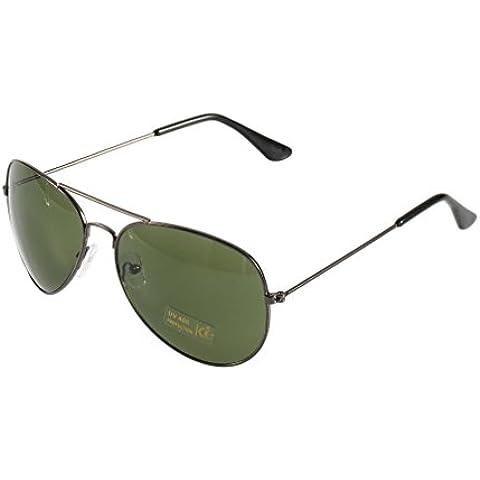 Fucile Frame + Verde Scuro Unisex New Classic argento lenti a specchio marrone oro nero occhiali da sole F5