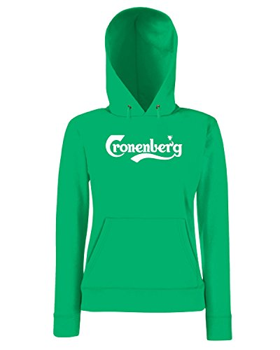 T-Shirtshock - Sweatshirt a capuche Femme BEER0047 Cronenberg Vert