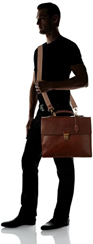 The Bridge - Briefcase Cm 40, Borsa con Maniglia Uomo Braun (14 14)