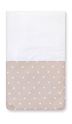 Pirulos 83300510 - Colcha con relleno minicuna stars, color blanco y lino