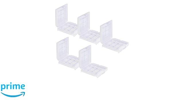 paquet de 5 More Power + Bo/îte de rangement pour piles rechargeables boitier batterie accu case box /étuis 4x AAA // AA de Weiss