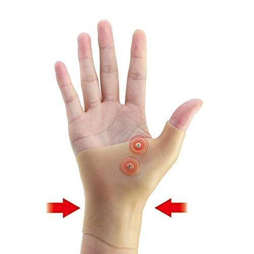 Peanutaod Magnetfeldtherapie Handgelenk Hand Daumen unterstützung Handschuhe silikon Gel Arthritis Druck korrektor Massage schmerzlinderung Handschuhe -
