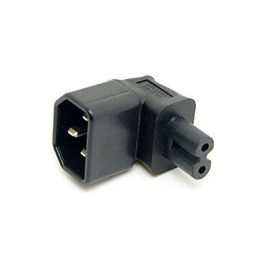 90 degrés à angle droit IEC 320 C14 douille adaptateur c7 prise de courant alternatif CEI mettre ul approuvé