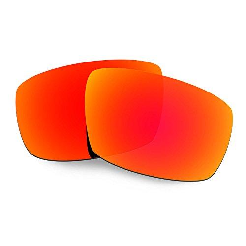 HKUCO Plus Mens Replacement Lenses For Spy Optic Logan Sunglasses Red Polarized