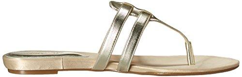 Nine West Fuori sintetico Dress Sandal Light Gold