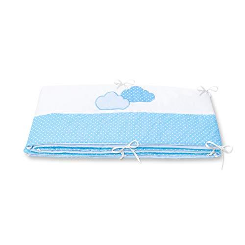Amilian® Bettumrandung für Kinderbett Baby Nest Kopfschutz Nestchen Bettnestchen Baby Kantenschutz MIT STICKEREI