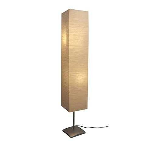 vidaXL Lámpara de Pie Moderna Pantalla de Papel Arroz Crema 135 cm Luz Cálida