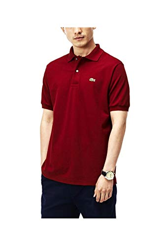 Lacoste PH4012 Herren Polo Shirt Kurzarm,Männer Polo-Hemd,2 Knopf,Slim Fit,Pinot(Z7F),Large (5) - Lacoste Langarm-polo-shirt