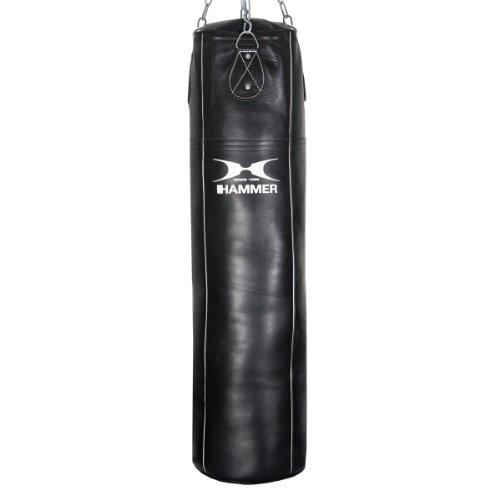 Hammer Boxsack Premium Rindsleder Professional, schwarz