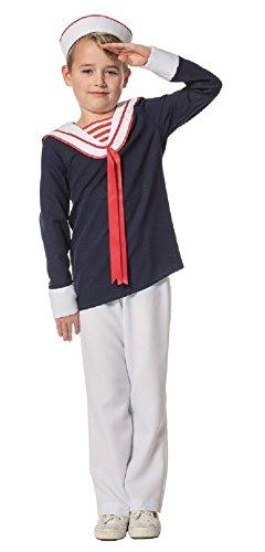 n Junge blau-weiß Marinekostüm Gr.140 (Erwachsene Weiße Matrosen Kostüme)