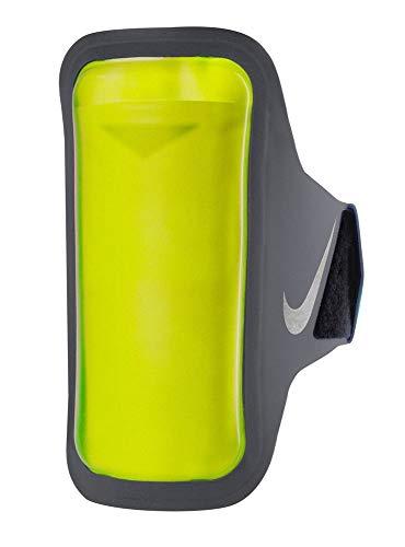 Nike Erwachsene Ventilated ARM Band Handytasche, Dark Grey/Volt/Silver, OneSize