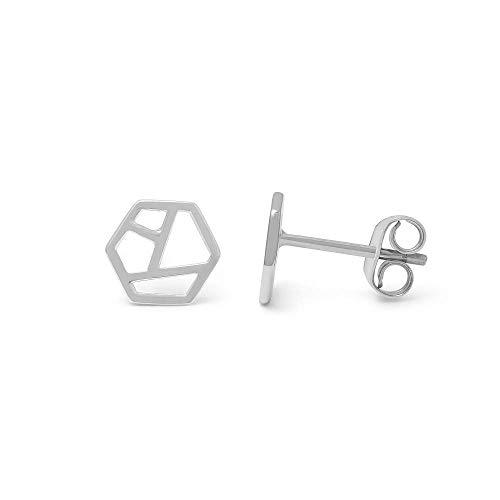 prettique Ohrstecker aus 925 Sterlingsilber mit geometrischem Design – 14 EUR