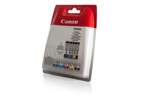 Canon AMACABUNDLE43 - Confezione da 5 cartucce d'inchiostro, colore: nero, giallo, magenta e ciano, schwarz, cyan, magenta, yellow, photo-black