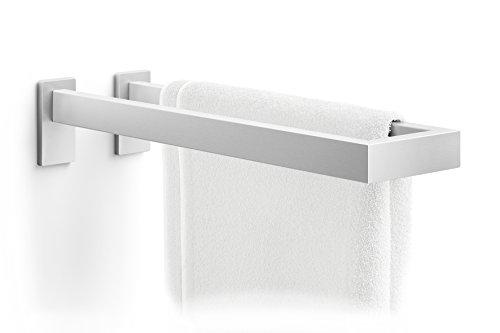 Zack Linea Acier Inoxydable Porte-Serviettes Double Barre Porte-Serviettes Mat 42 cm sans perçage 40398