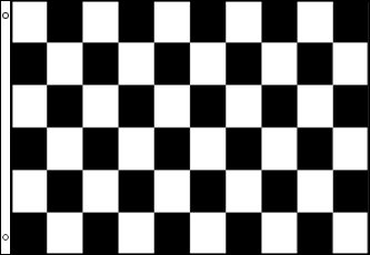 Special Offer....Checkered Flag 5ft x 3ft Black & White by Klicnow