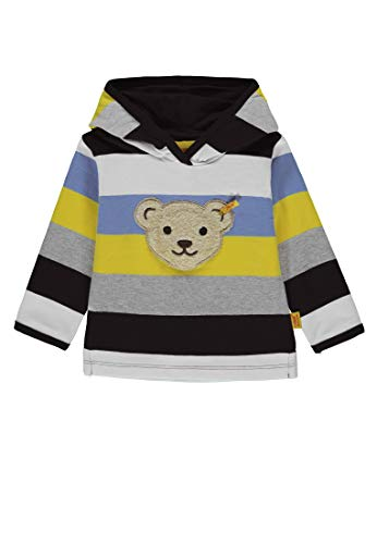 Steiff Baby - Jungen Sweatshirt 1/1 Arm Sweatshirt, per Pack Mehrfarbig (y/d Stripe Multicolored 0001), 86 (Herstellergröße: 86)