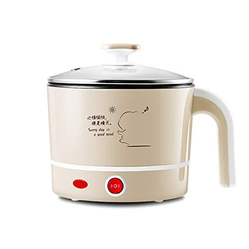 Multifunktionskocher-Elektrischer Topf-Wasserkocher Tragbarer Mini Für Das Kochen Des Suppenbreis Und Des Gedämpften Food1.2L,S