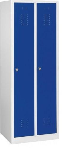 Lüllmann Spind Spint Stahl-Kleiderschränke Gaderobenschrank 2 türig blau 510121 kompl. montiert...