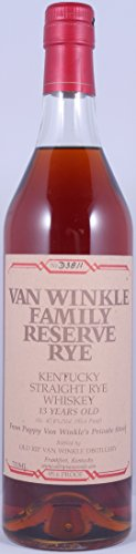 Van Winkle Family Reserve Handmade Limited Kentucky Straight Rye Whiskey