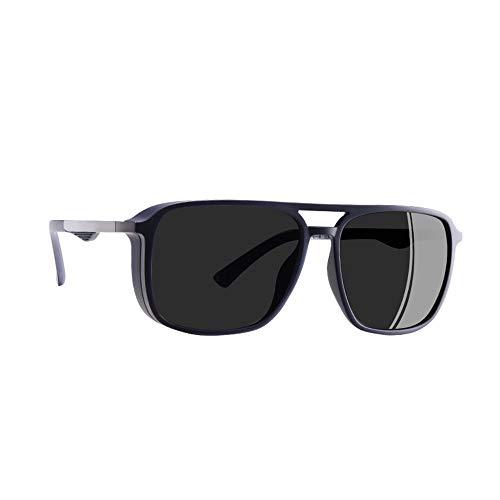 JU DA Sonnenbrillen Sonnenbrille Polarisierte Männer Punk Vintage Brillen Steampunk Sonnenbrille Brille Gafas De Sol C4Blau