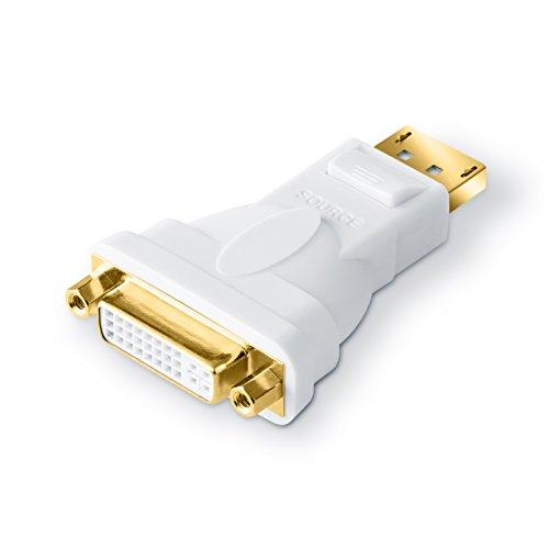 CSL - DisplayPort (DP) su DVI adattatore Full HD 1080p Premium | certificato | contatti bagnati in oro 24K | schede grafiche / Apple e PC