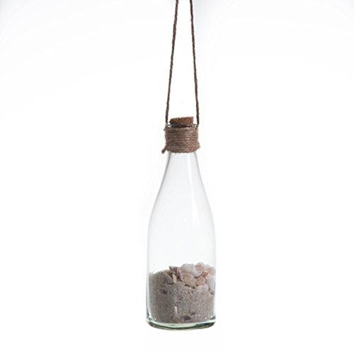 Biazd SE194_50 Bottiglie con Conchiglie da Appendere, Naturale, 6.5x19.5x6.5 cm, 6 unità