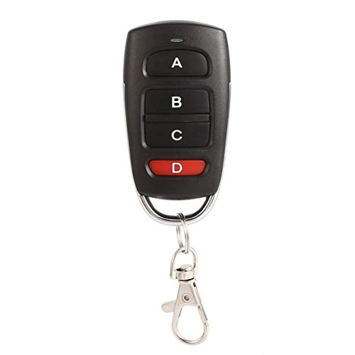 Universal Copy 433MHz Wireless Metal 4 Key Garage Door Duplicator Remote Control Mini Portable DC 12V/27A Key Fob Controller Car Remote Key Mini