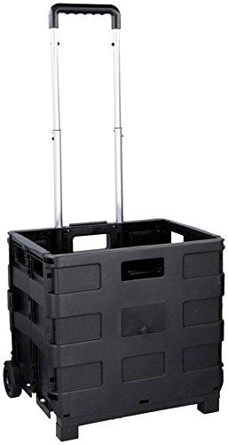 Vetrineinrete® Carrello Trolley Pieghevole Multiuso Peso Max 25 kg per la Spesa o Attrezzi da Lavoro richiudibile e Manico telescopico allungabile portaoggetti con 2 Ruote salvaspazio 05703