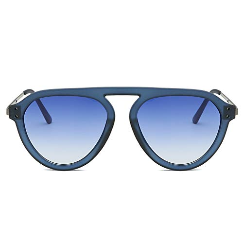 VENMO Mode Herren Retro kleine ovale Sonnenbrille für Damen Metallrahmen Shades Brillen Katzenauge Metall Rand Rahmen Damen Frau Mode Sonnebrille Gespiegelte Linse Women Sunglasses (H-C)