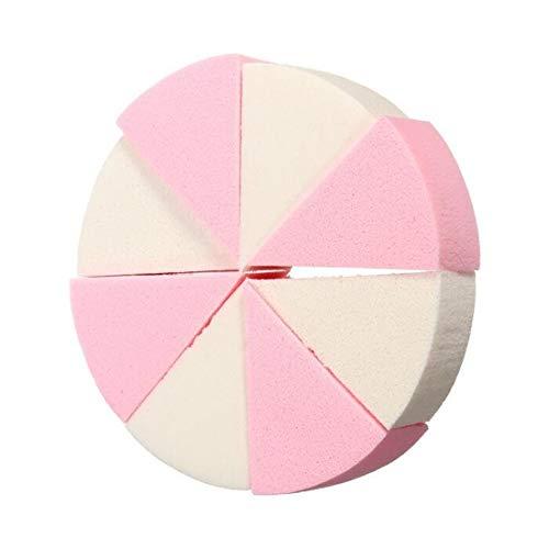 8 Teile/paket Dreieck Geformte Candy Farbe Weiche Magie Gesicht Reinigung Pad Puff Kosmetische Puff Reinigen Schwamm Waschen Gesicht Make-Up Schwamm -