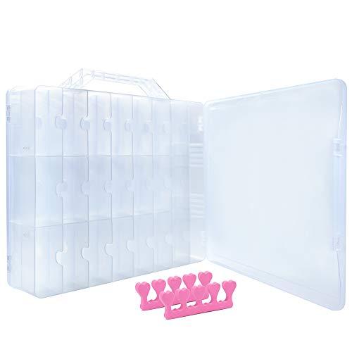 Caja portátil transparente almacenamiento presentación