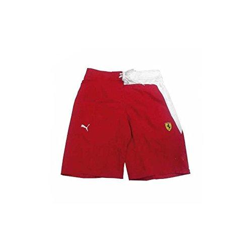 Ferrari Badehose Herren Puma Rot/Weiß, Herren, M